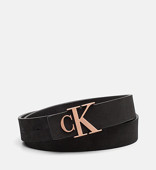 CALVIN KLEIN JEANS Leather Belt - BLACK -  BELTS - main image
