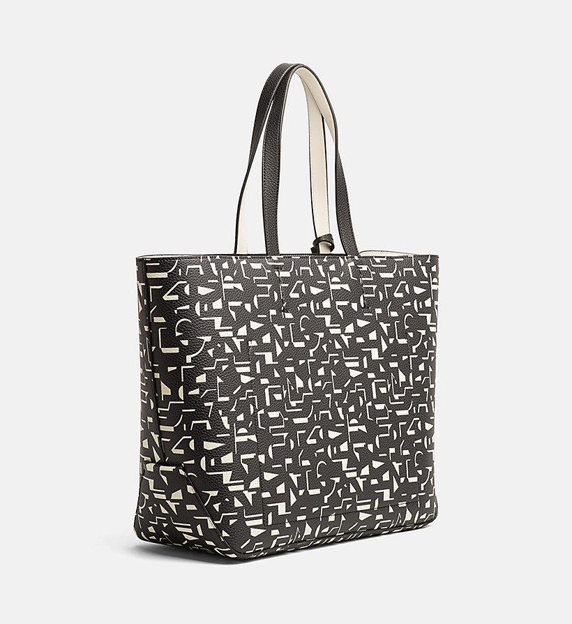 large printed shopper bag calvin klein k60k604071. Black Bedroom Furniture Sets. Home Design Ideas