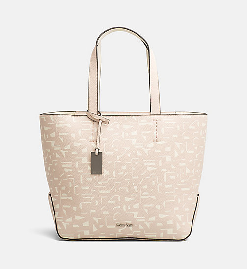 CALVINKLEIN Medium Printed Shopper Bag - PASTEL PINK CK PRINT - CALVIN KLEIN BAGS & ACCESSORIES - main image