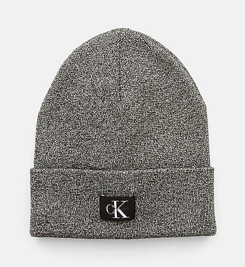 CALVIN KLEIN JEANS Metallic Beanie - BLACK - CALVIN KLEIN JEANS SHOES & ACCESSORIES - main image