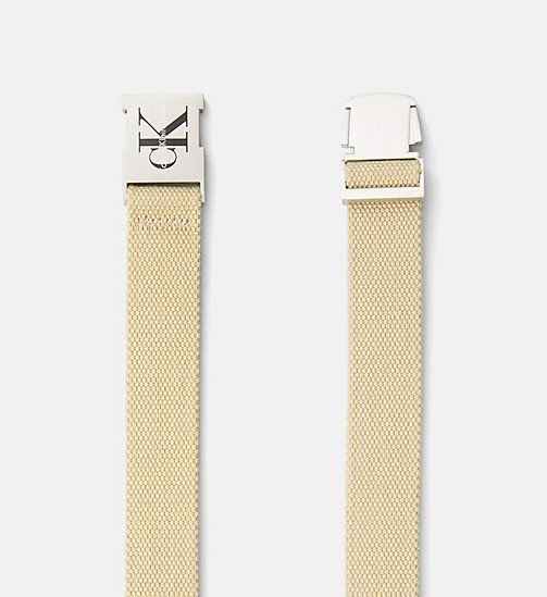 CALVIN KLEIN JEANS Clip Buckle Belt - SAFARI - CALVIN KLEIN JEANS SHOES & ACCESORIES - detail image 1