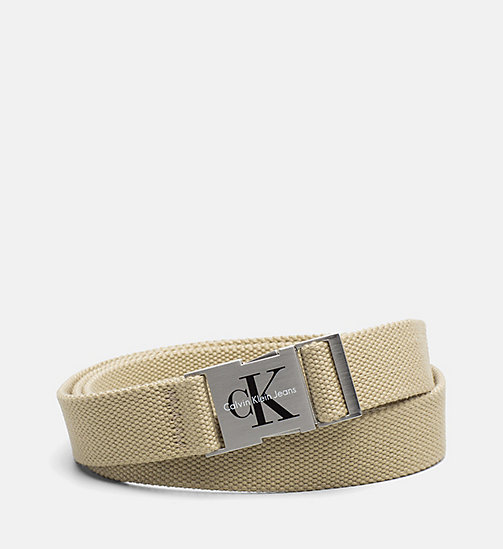 CALVIN KLEIN JEANS Clip Buckle Belt - SAFARI - CALVIN KLEIN JEANS SHOES & ACCESORIES - main image