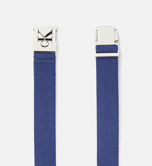 CALVIN KLEIN JEANS Clip Buckle Belt - BLUE DEPTHS - CALVIN KLEIN JEANS SHOES & ACCESSORIES - detail image 1