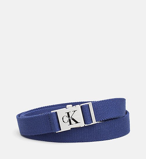 CALVIN KLEIN JEANS Clip Buckle Belt - BLUE DEPTHS - CALVIN KLEIN JEANS SHOES & ACCESSORIES - main image