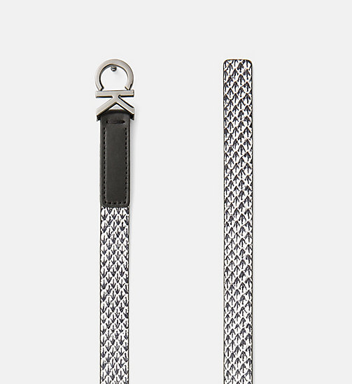CALVINKLEIN Skinny Leather Waist Belt - BLACK & WHITE SNAKE - CALVIN KLEIN BELTS - detail image 1