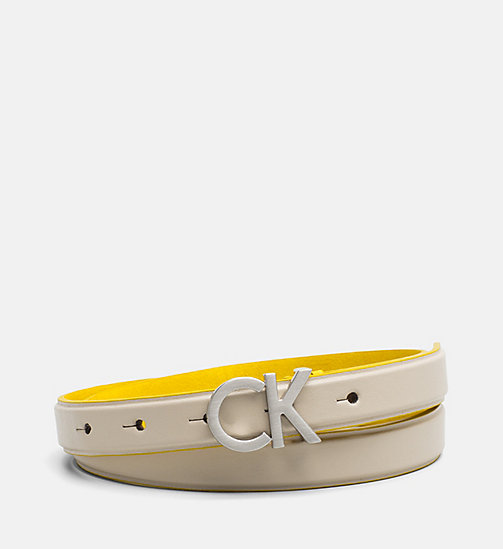 CALVINKLEIN Leather Belt - CEMENT - CALVIN KLEIN NEW IN - main image