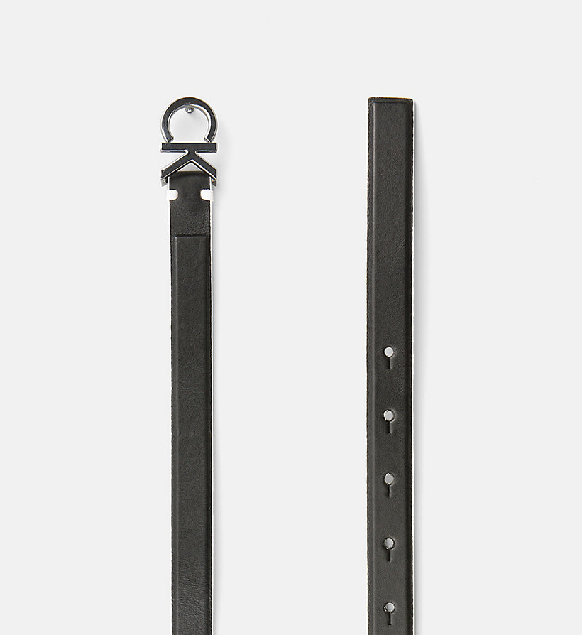 CALVINKLEIN Leather Belt - TOAST - CALVIN KLEIN WOMEN - detail image 1