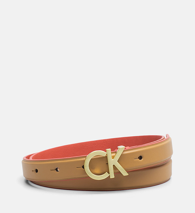 CALVINKLEIN Leather Belt - CEMENT - CALVIN KLEIN WOMEN - main image