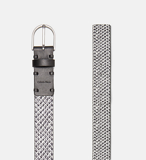 CALVINKLEIN Leather Belt - BLACK & WHITE SNAKE - CALVIN KLEIN BELTS - detail image 1
