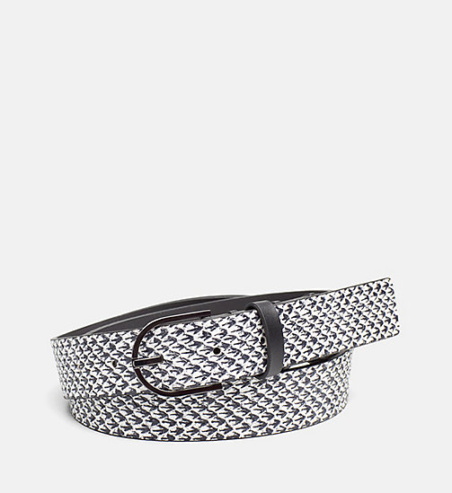 CALVINKLEIN Leather Belt - BLACK & WHITE SNAKE - CALVIN KLEIN BELTS - main image