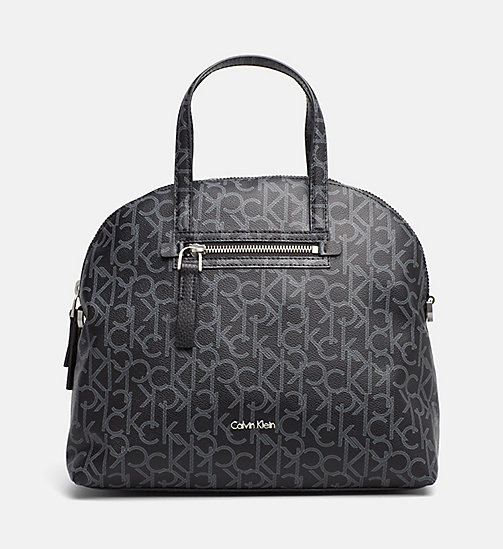 CALVINKLEIN Medium Logo Satchel - BLACK - CALVIN KLEIN LOGO SHOP - main image