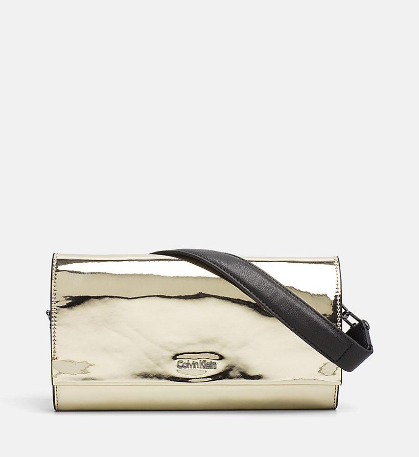 Metallic Clutch on Chain Calvin Klein ye11btVZBS
