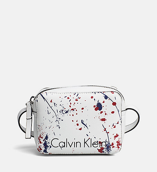 CALVINKLEIN Kleine Crossover-Bag im Splatter-Design - CK WHITE/SPLASH - CALVIN KLEIN NEW IN - main image