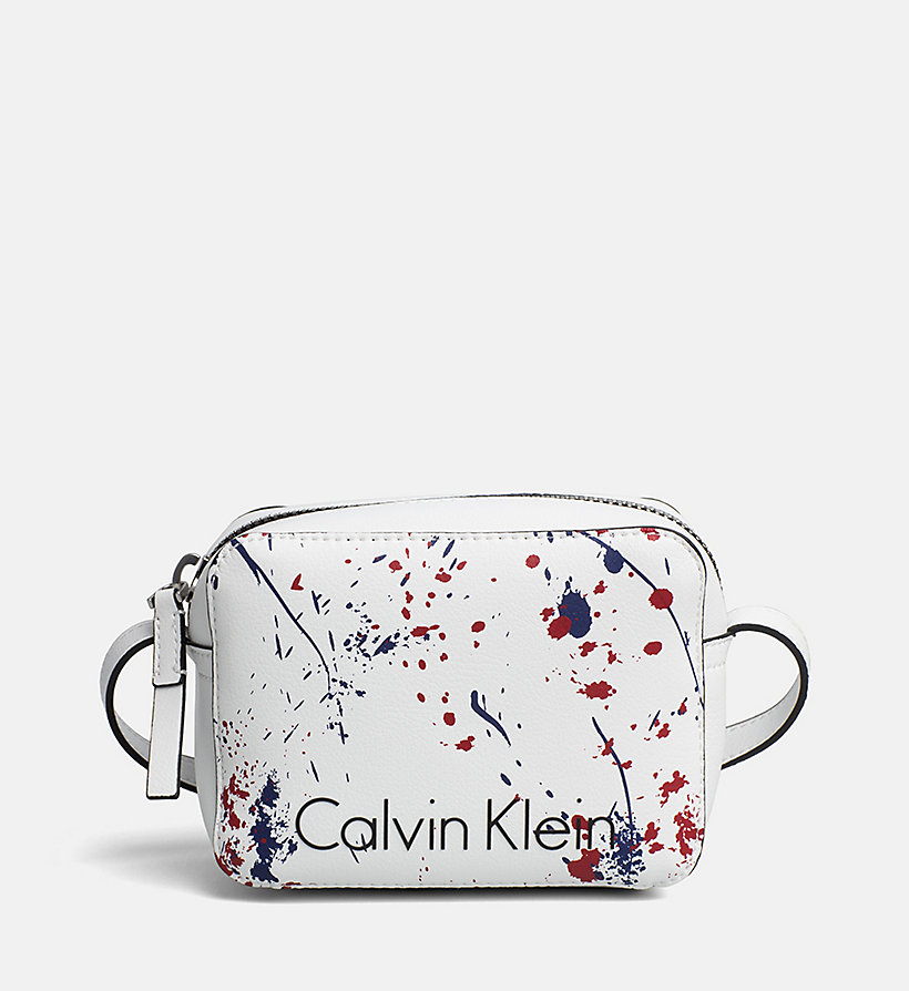 CALVINKLEIN Small Splatter Crossover - BLACK/SPLASH - CALVIN KLEIN WOMEN - main image