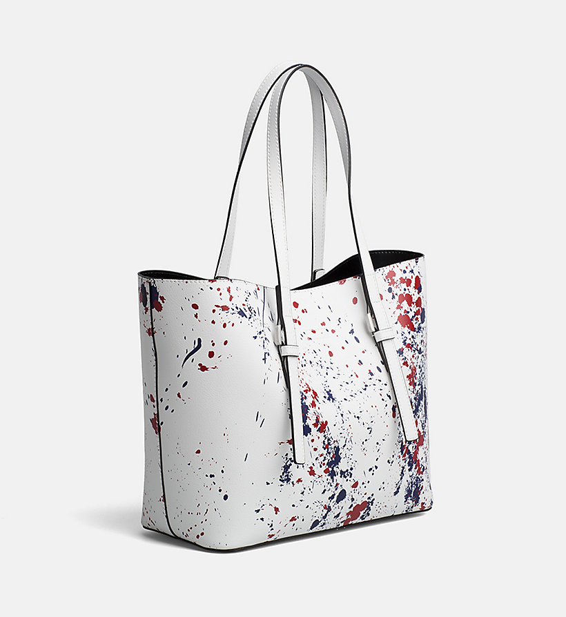 CALVINKLEIN Medium Splatter Tote Bag - BLACK/SPLASH - CALVIN KLEIN WOMEN - detail image 3