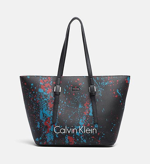 CALVINKLEIN Medium Splatter Tote Bag - BLACK SPLASH - CALVIN KLEIN NEW IN - main image