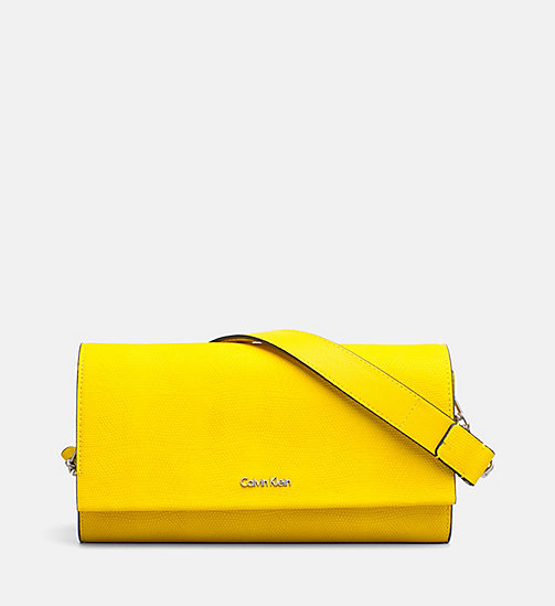 CALVINKLEIN Clutch on Chain - SUNFLOWER - CALVIN KLEIN CLUTCH BAGS - main image