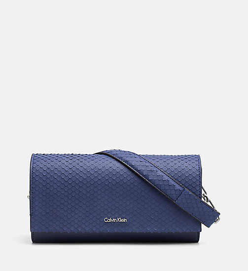CALVINKLEIN Clutch on Chain - NAVY - CALVIN KLEIN SHOES & ACCESSORIES - main image