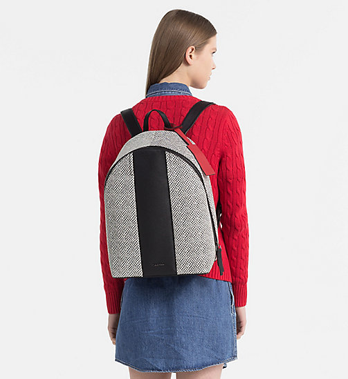 CALVINKLEIN Snake Print Leather Backpack - BLACK/SNAKE - CALVIN KLEIN BACKPACKS - detail image 1