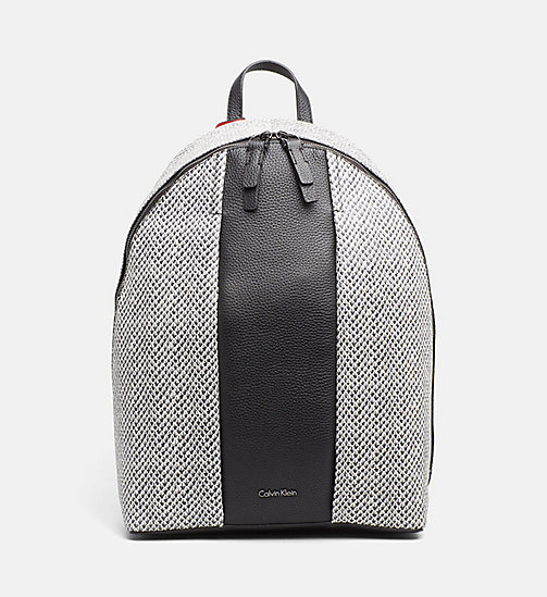 CALVINKLEIN Snake Print Leather Backpack - BLACK/SNAKE - CALVIN KLEIN BACKPACKS - main image