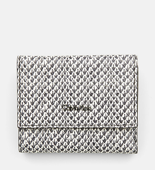 CALVINKLEIN Snake Print Leather Trifold Wallet - SNAKE - CALVIN KLEIN SHOES & ACCESSORIES - main image