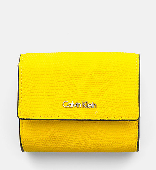 CALVINKLEIN Small Trifold Wallet - SUNFLOWER - CALVIN KLEIN WALLETS & SMALL ACCESSORIES - main image