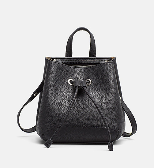 CALVIN KLEIN JEANS Small Bucket Bag - BLACK - CALVIN KLEIN JEANS TRUE COLOURS - main image