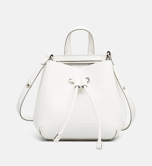 CALVIN KLEIN JEANS Small Bucket Bag - WHITE - CALVIN KLEIN JEANS TRUE COLOURS - main image