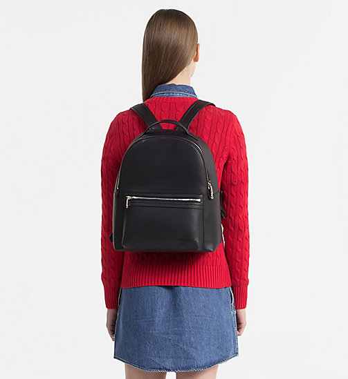 CALVIN KLEIN JEANS Medium Round Backpack - BLACK - CALVIN KLEIN JEANS BACKPACKS - detail image 1