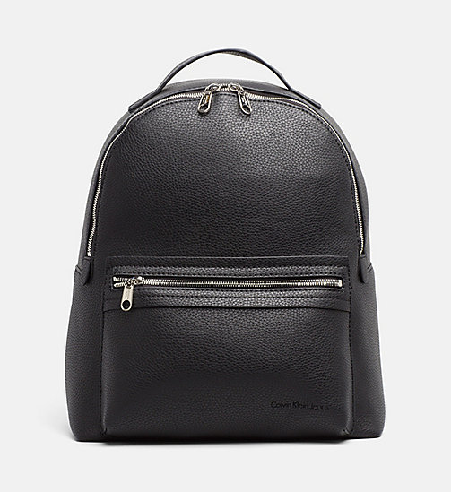 CALVIN KLEIN JEANS Medium Round Backpack - BLACK - CALVIN KLEIN JEANS BACKPACKS - main image