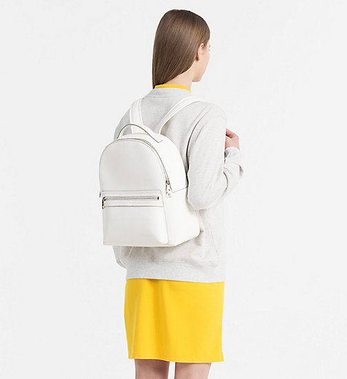 CALVIN KLEIN JEANS Medium Round Backpack - WHITE - CALVIN KLEIN JEANS SHOES & ACCESSORIES - detail image 1