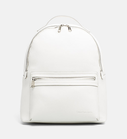CALVIN KLEIN JEANS Medium Round Backpack - WHITE - CALVIN KLEIN JEANS SHOES & ACCESSORIES - main image