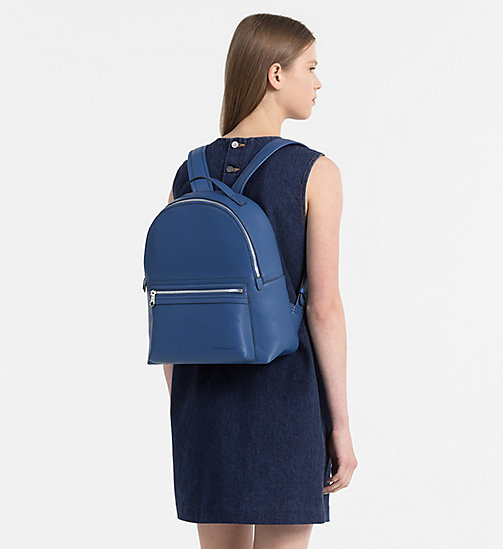CALVIN KLEIN JEANS Medium Round Backpack - LIGHT NAVY - CALVIN KLEIN JEANS SHOES & ACCESSORIES - detail image 1