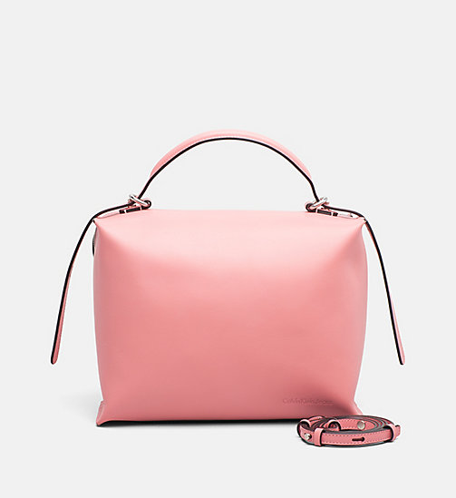 CALVIN KLEIN JEANS Leather Box Satchel - POP PINK - CALVIN KLEIN JEANS HEAT WAVE - main image