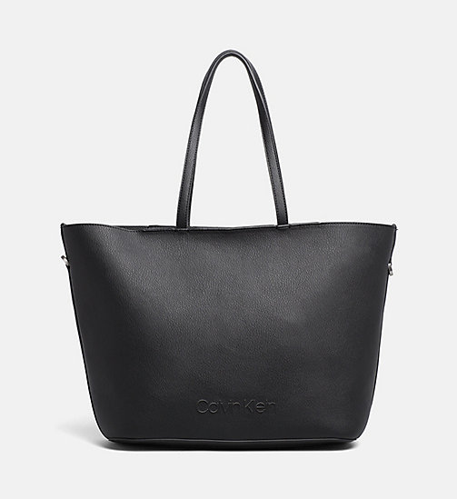 CALVINKLEIN Shopper Tote Bag - BLACK - CALVIN KLEIN NEW IN - main image