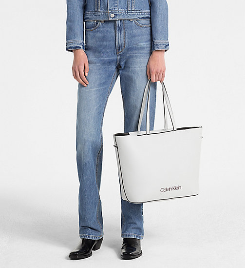 CALVINKLEIN Shopper Tote Bag - LIGHT GREY - CALVIN KLEIN SHOES & ACCESORIES - detail image 1