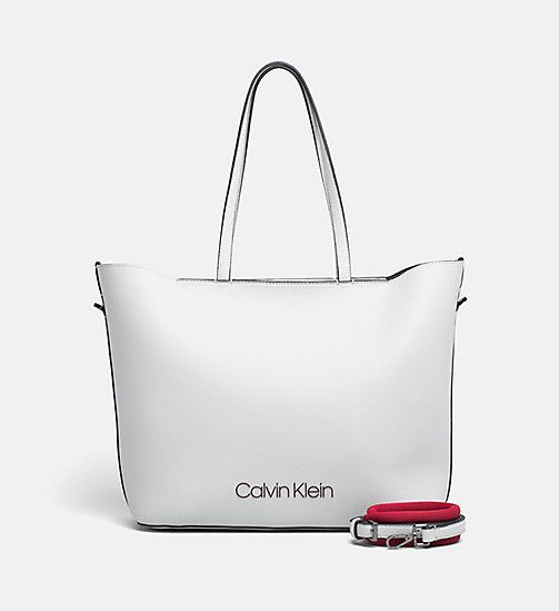 CALVINKLEIN Shopper Tote Bag - LIGHT GREY - CALVIN KLEIN NEW IN - main image