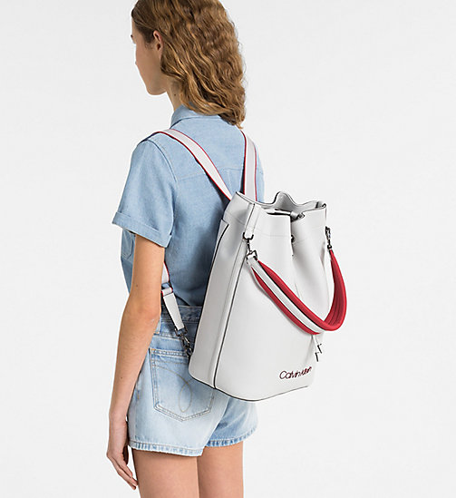 CALVINKLEIN Backpack - LIGHT GREY - CALVIN KLEIN SHOES & ACCESORIES - detail image 1