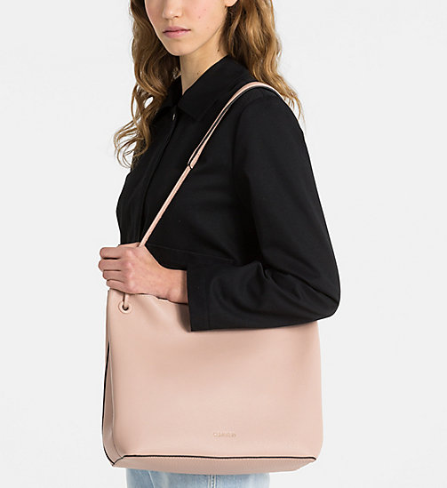 CALVINKLEIN Leder-Hobo-Bag - NUDE - CALVIN KLEIN NEW IN - main image 1