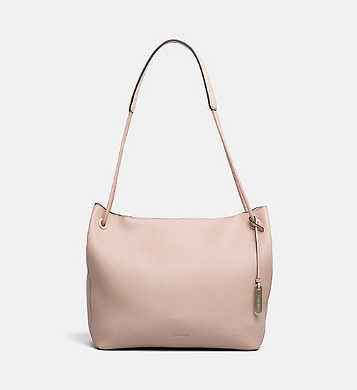 CALVIN KLEIN Leather Hobo - NUDE - CALVIN KLEIN HOBO BAGS - main image