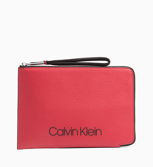 CALVINKLEIN Zip Pouch - DARK RED - CALVIN KLEIN NEW IN - main image