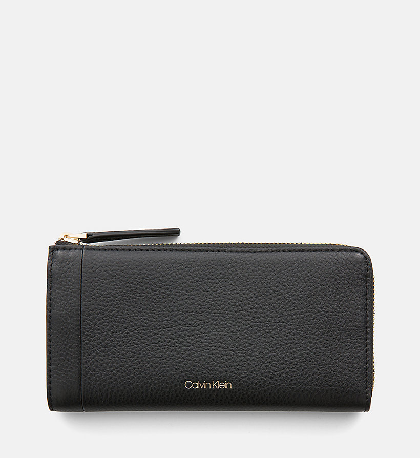 CALVINKLEIN Large Leather Zip-Around Wallet - NUDE - CALVIN KLEIN WOMEN - main image