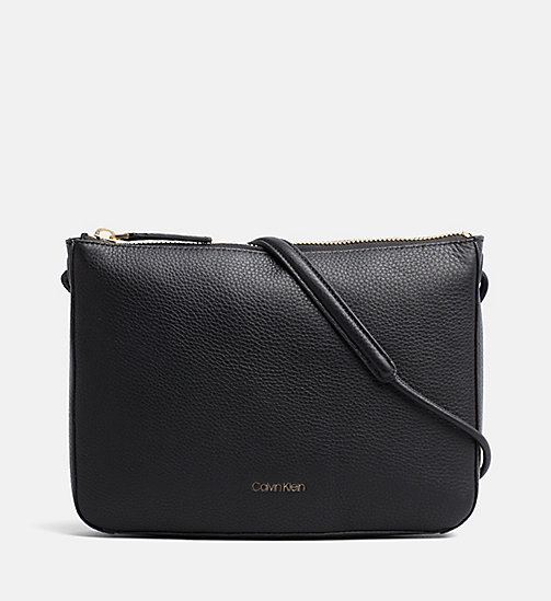 CALVINKLEIN Leather Cross Body Bag - BLACK - CALVIN KLEIN CROSSOVER BAGS - main image