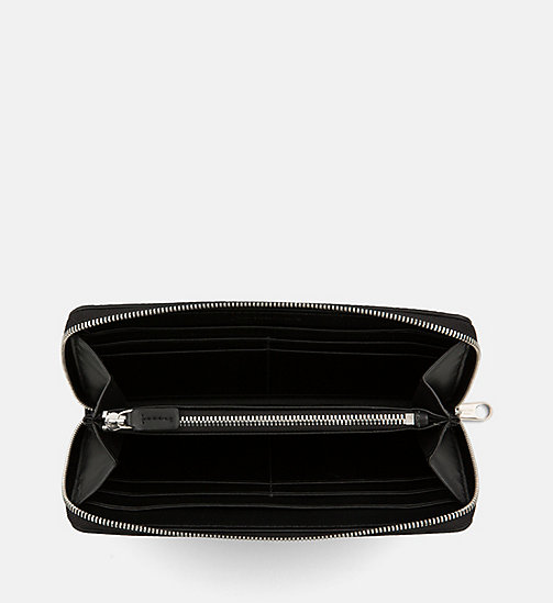 CALVIN KLEIN JEANS Large Zip-Around Wallet - BLACK - CALVIN KLEIN JEANS WALLETS & SMALL ACCESSORIES - detail image 1