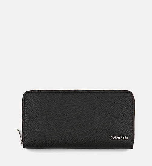CALVIN KLEIN JEANS Large Zip-Around Wallet - BLACK - CALVIN KLEIN JEANS WALLETS & SMALL ACCESSORIES - main image
