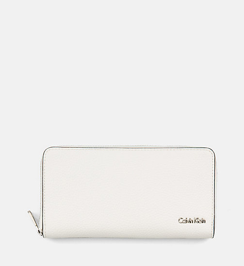 CALVIN KLEIN JEANS Large Zip-Around Wallet - WHITE - CALVIN KLEIN JEANS WALLETS & SMALL ACCESSORIES - main image