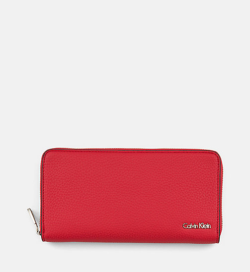 CALVIN KLEIN JEANS Large Zip-Around Wallet - SCARLETT - CALVIN KLEIN JEANS WALLETS & SMALL ACCESSORIES - main image