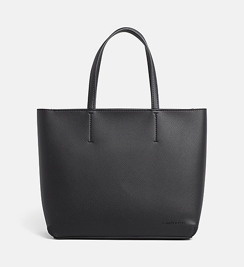 CALVIN KLEIN JEANS Large Tote Bag - BLACK - CALVIN KLEIN JEANS TOTE BAGS - main image