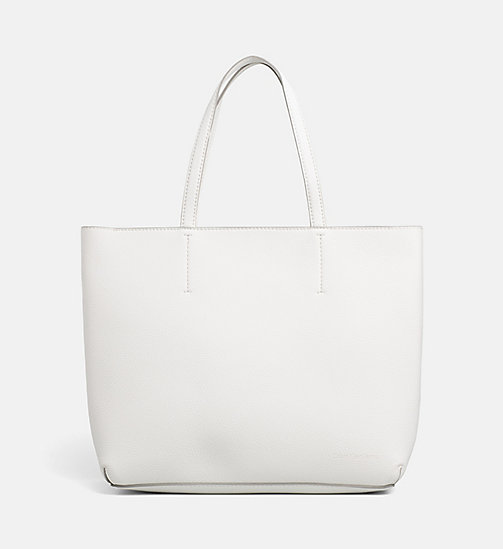 CALVIN KLEIN JEANS Large Tote Bag - WHITE - CALVIN KLEIN JEANS SHOES & ACCESSORIES - main image