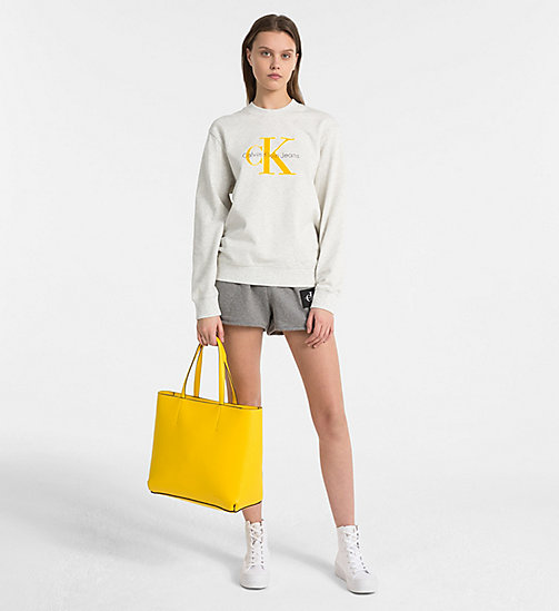 CALVIN KLEIN JEANS Large Tote Bag - CANARY - CALVIN KLEIN JEANS SHOES & ACCESSORIES - detail image 1